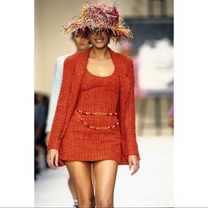 Chanel 1994 Tweed CC Wool Sleeveless Top